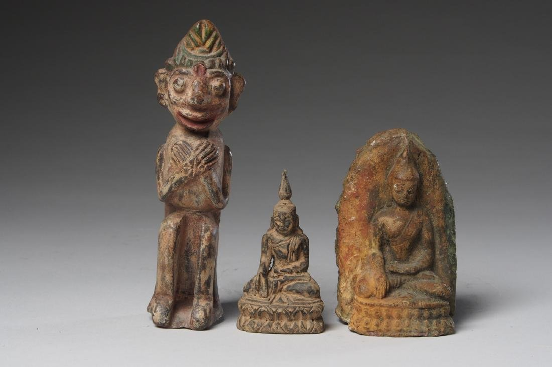 Two Indonesian mini Altars and a Figure Tribal Art