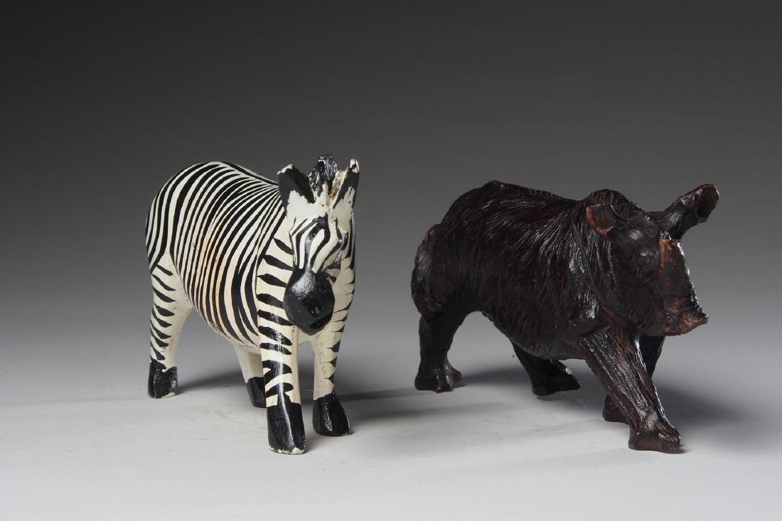 Six decorative Wooden African sculptures Tribal Art - 2