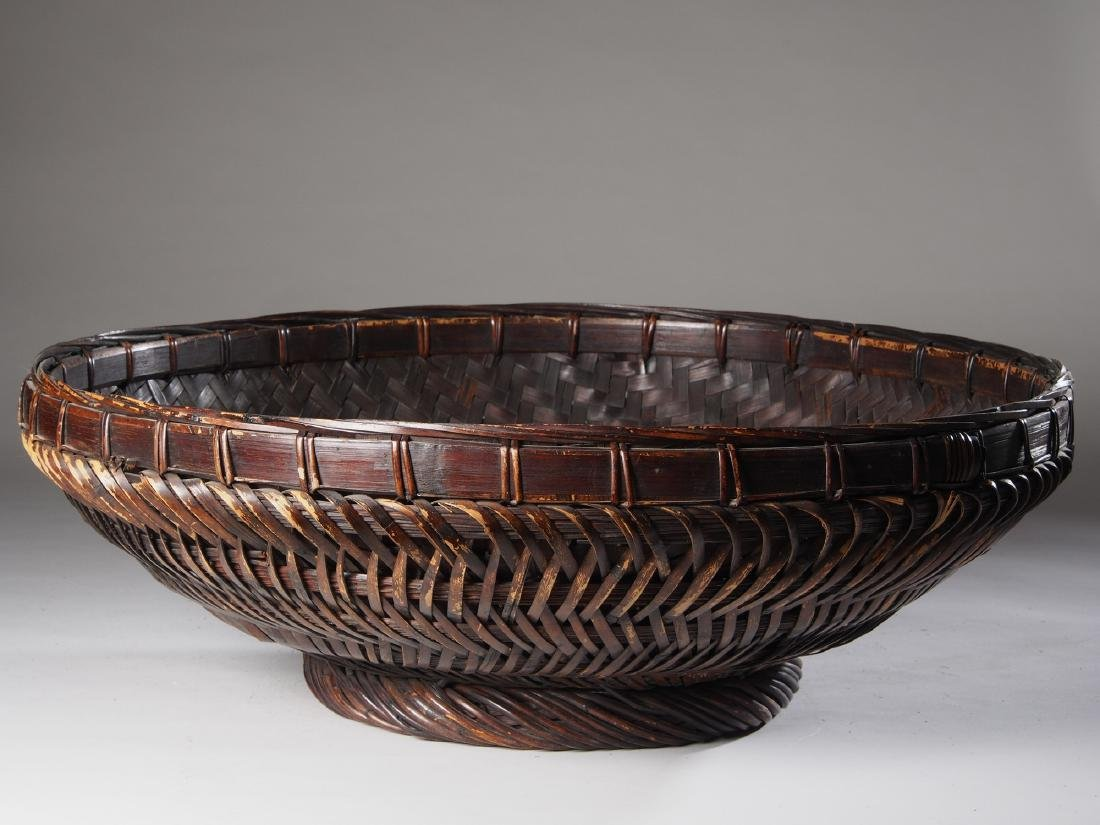 Large Hand woven Sukotai Basket Tribal Art - 2