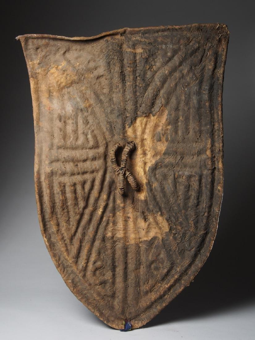 Wandala Leather War Shield Tribal Art - 2