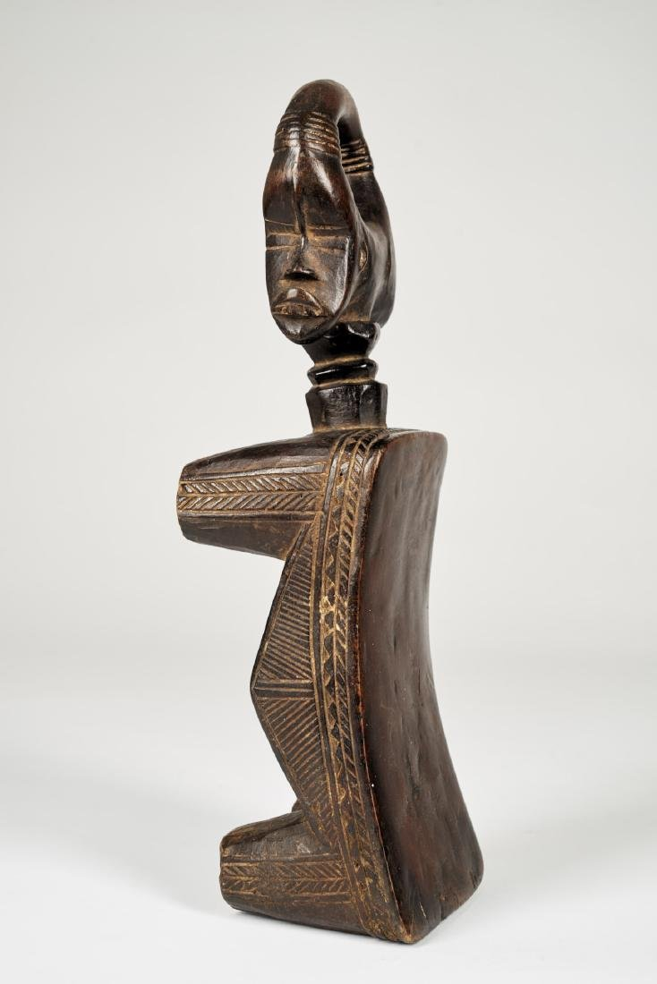 Dan Headrest with double face sculpture Tribal Art - 3