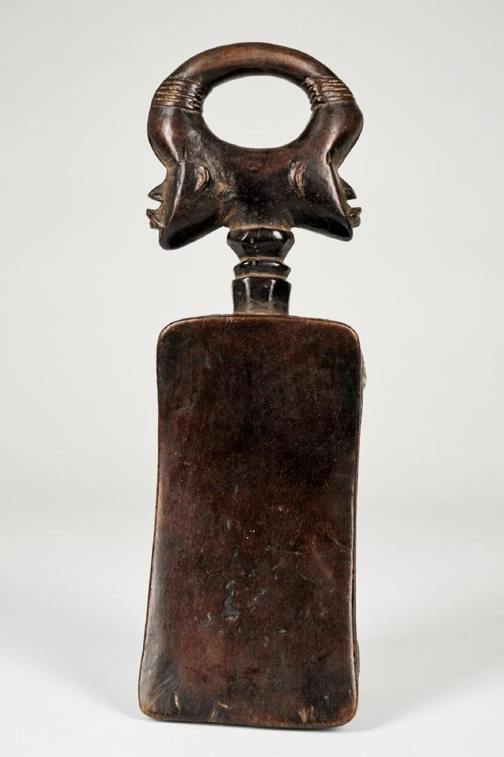 Dan Headrest with double face sculpture Tribal Art - 4