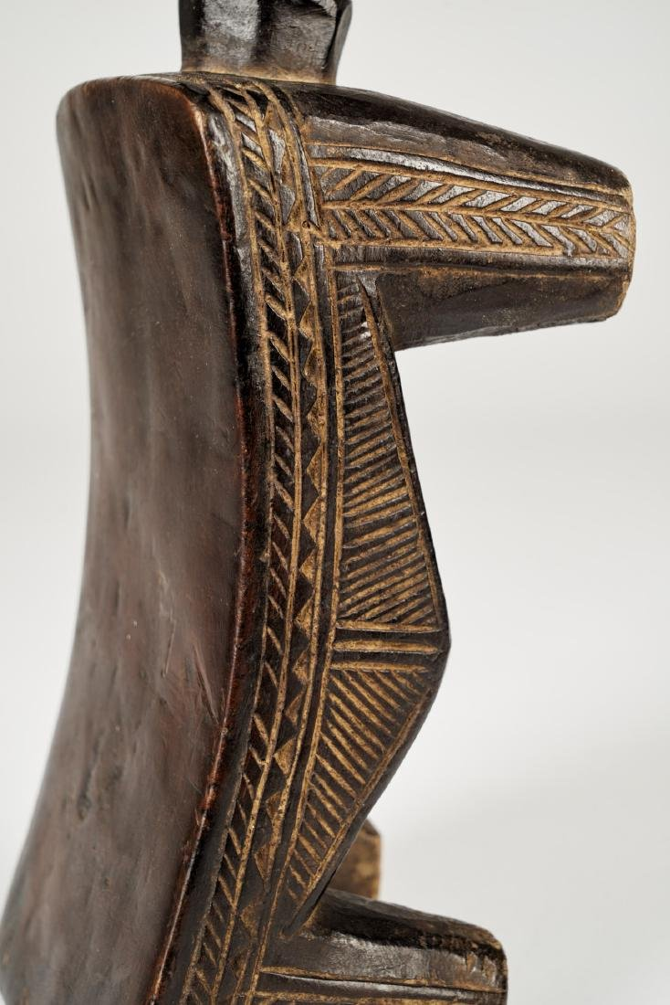 Dan Headrest with double face sculpture Tribal Art - 8