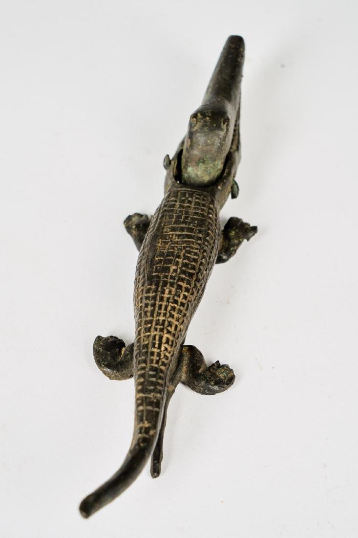 Senufo Bronze Crocodile Figure Tribal Art - 4