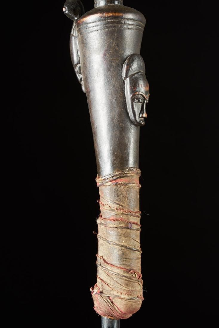 Ceremonial Baule Wooden Cane Tribal Art - 5