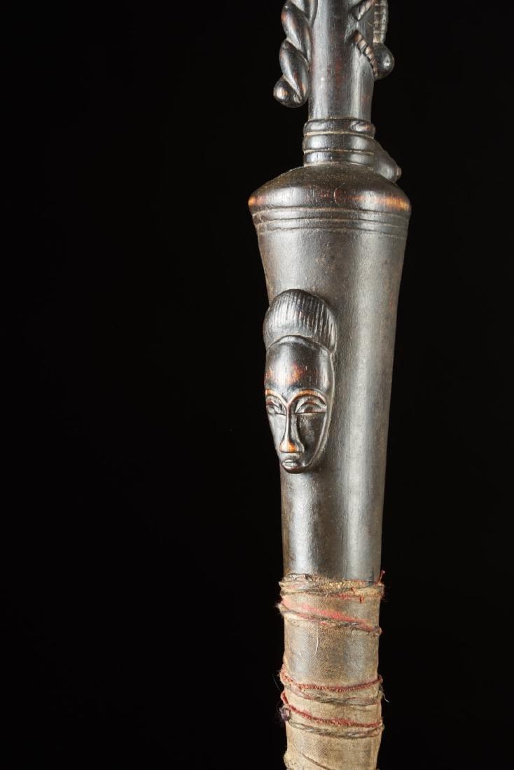 Ceremonial Baule Wooden Cane Tribal Art - 8