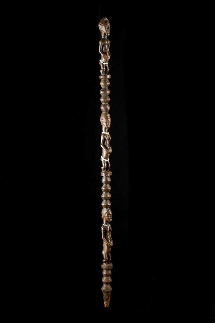 Ceremonial Songye Wooden Cane Tribal Art - 2