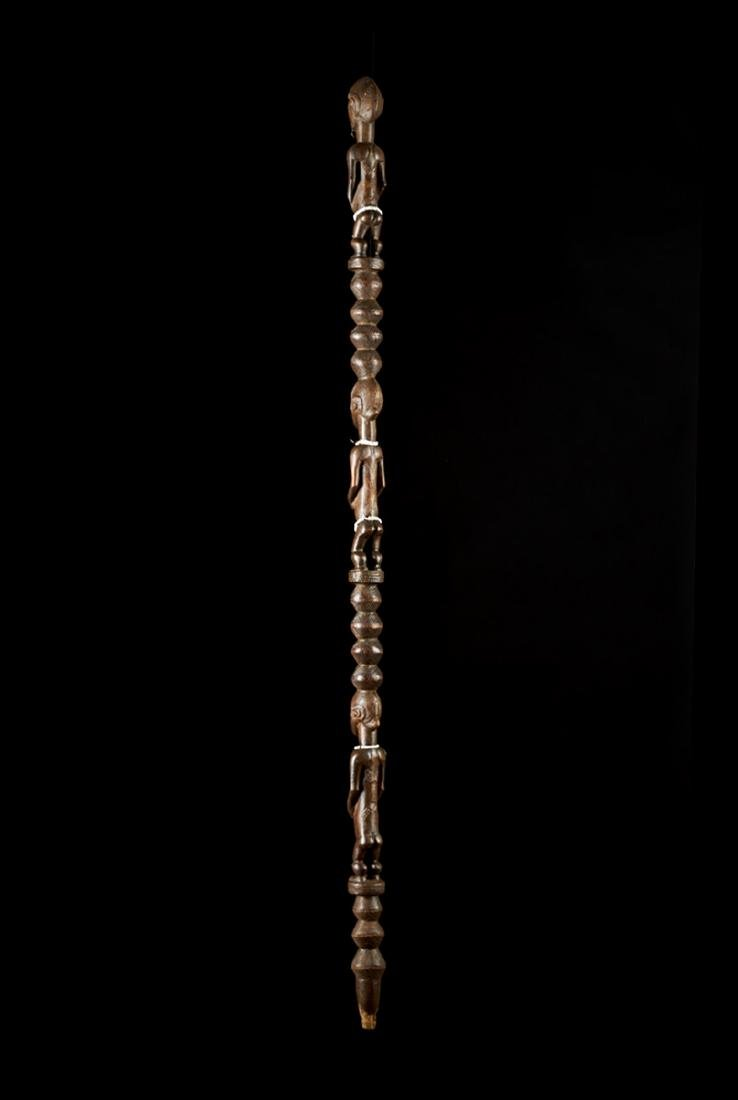 Ceremonial Songye Wooden Cane Tribal Art - 3