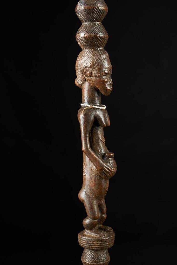 Ceremonial Songye Wooden Cane Tribal Art - 4