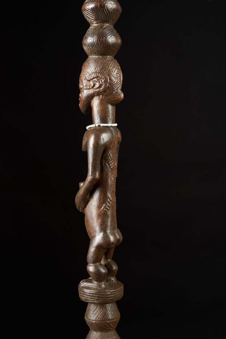 Ceremonial Songye Wooden Cane Tribal Art - 5