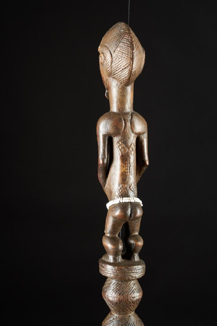 Ceremonial Songye Wooden Cane Tribal Art - 9