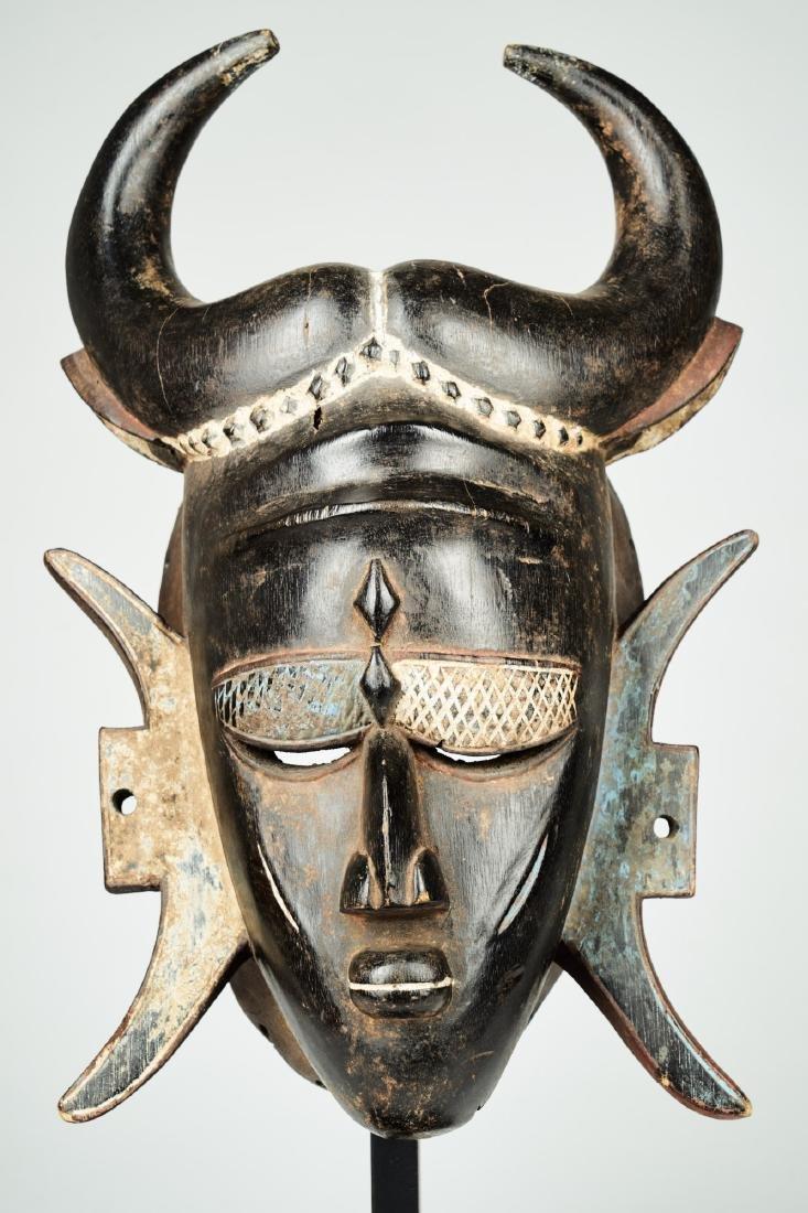 A Jimini mask with large buffalo horns Tribal Art - 2
