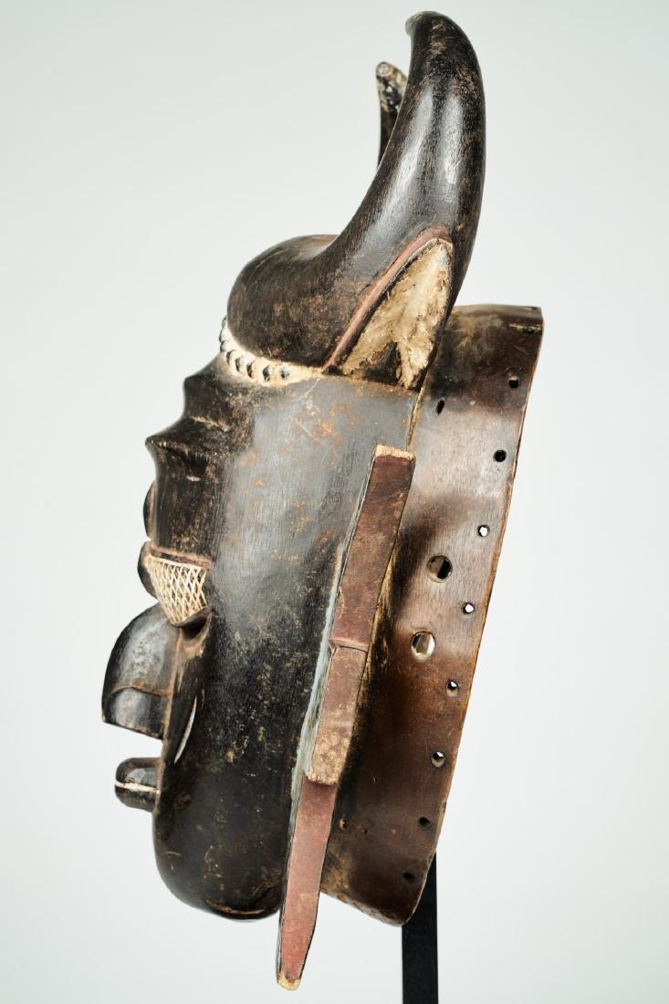 A Jimini mask with large buffalo horns Tribal Art - 4