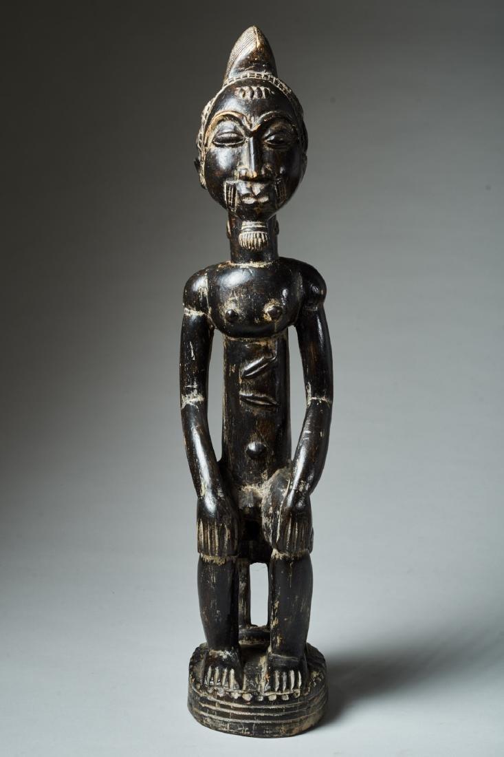 A Baule Sitting Male Figure Tribal Art - 2