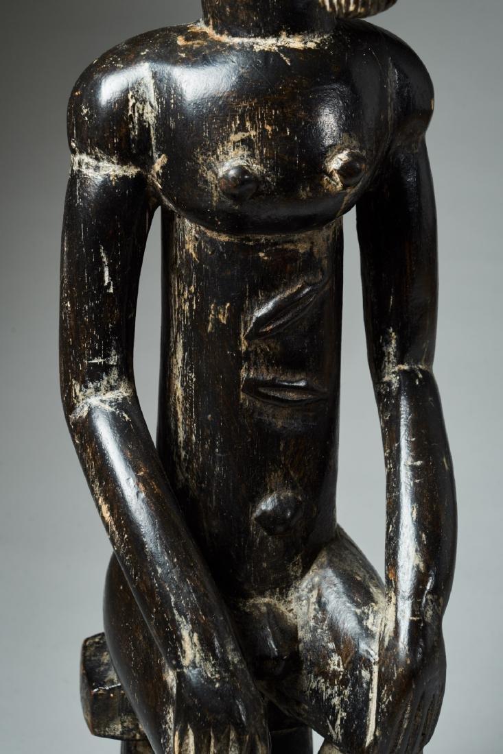 A Baule Sitting Male Figure Tribal Art - 7