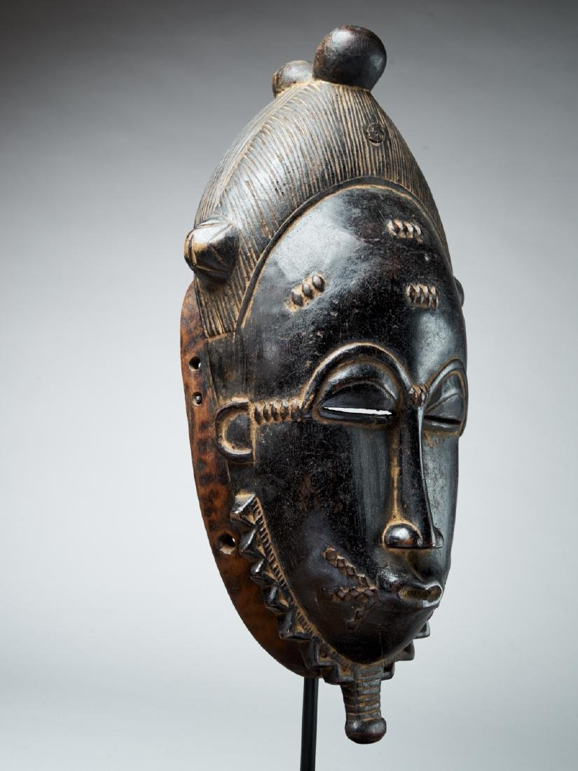Baule Kpan mask with a black face - Tribal Art - 3