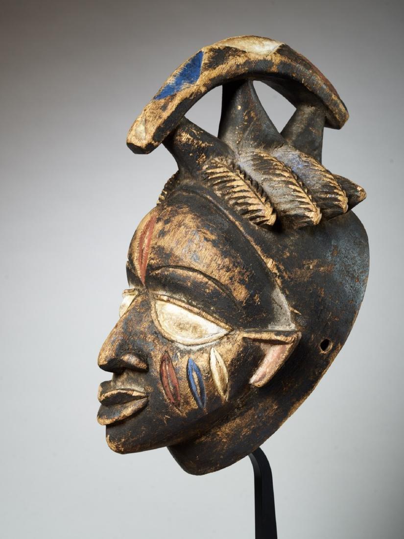 Yoruba Helmet Mask Tribal Art - 3