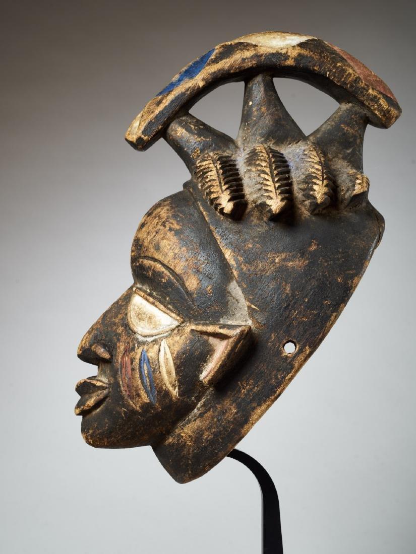 Yoruba Helmet Mask Tribal Art - 4