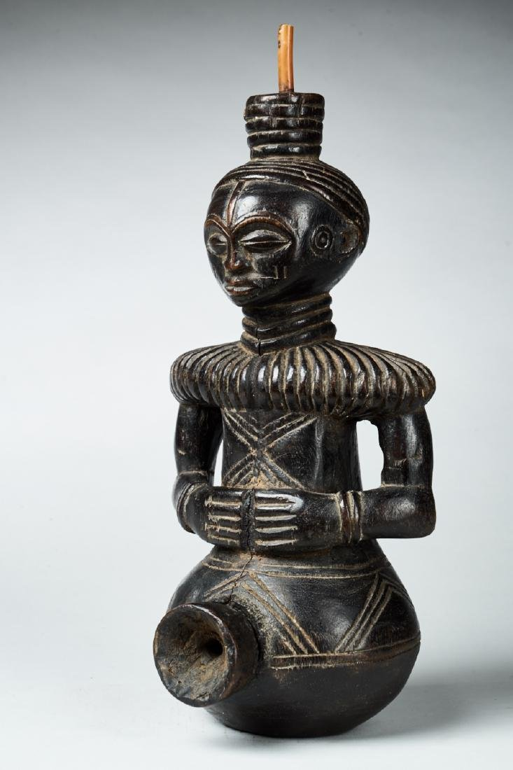 Figural Kongo Tobacco Pipe Tribal Art
