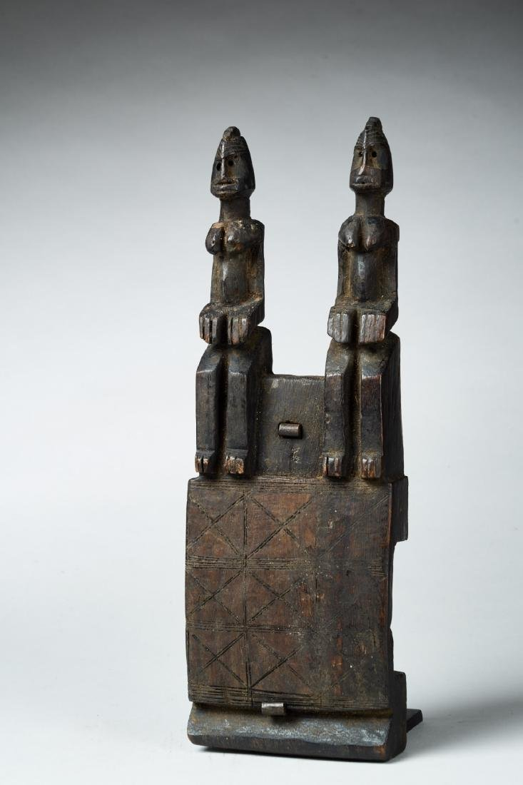 Wooden Dogon Granary Door lock Tribal Art
