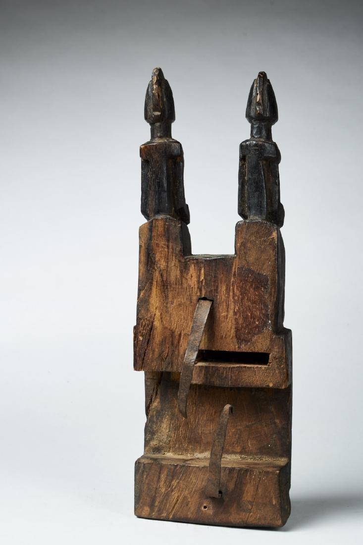 Wooden Dogon Granary Door lock Tribal Art - 2