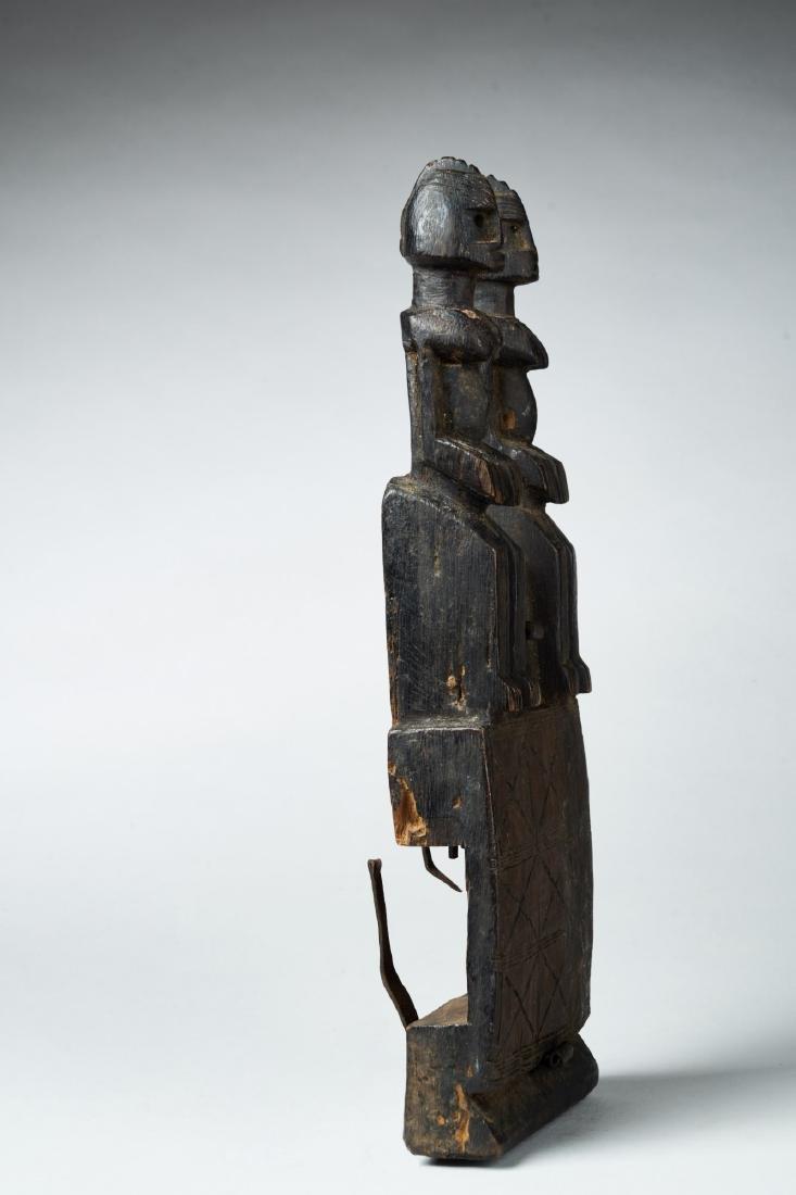 Wooden Dogon Granary Door lock Tribal Art - 3