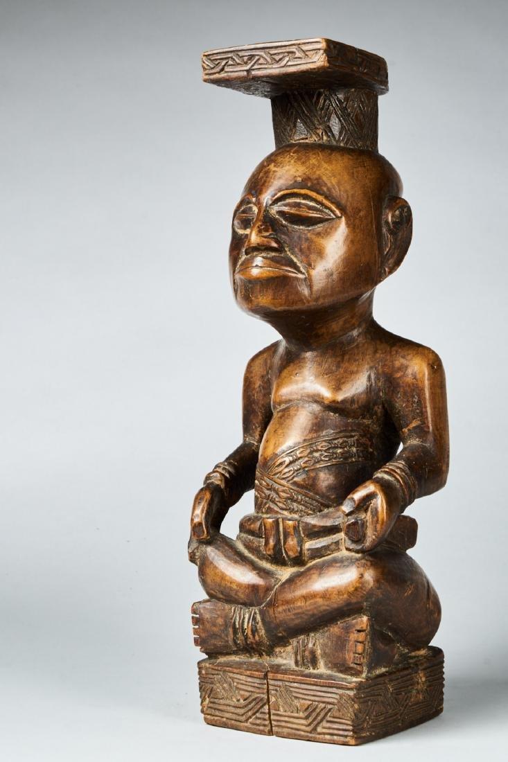 Kuba Ndop Figure with fine patina Tribal Art - 2