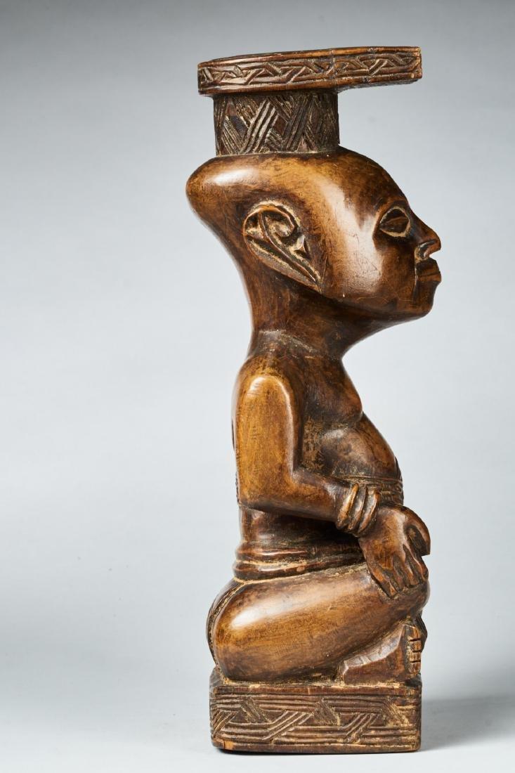 Kuba Ndop Figure with fine patina Tribal Art - 4