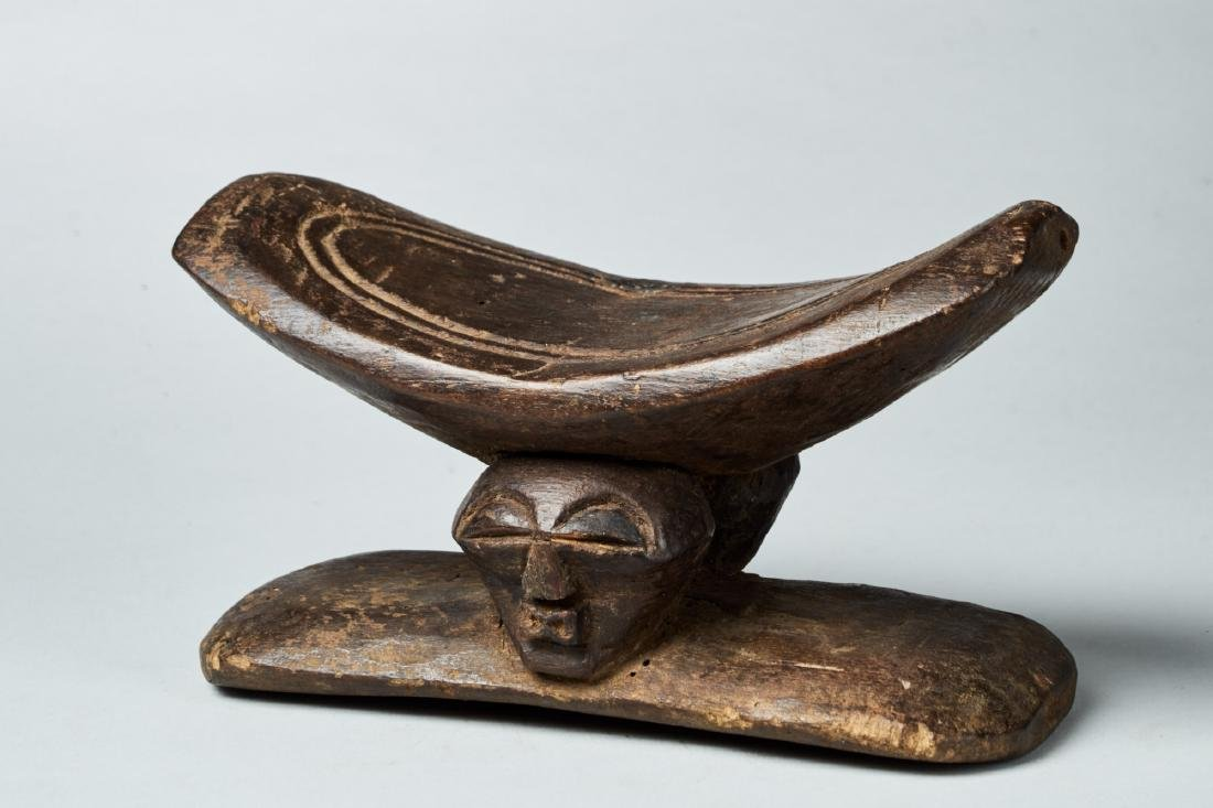 Wooden Songye Neckrest Tribal Art