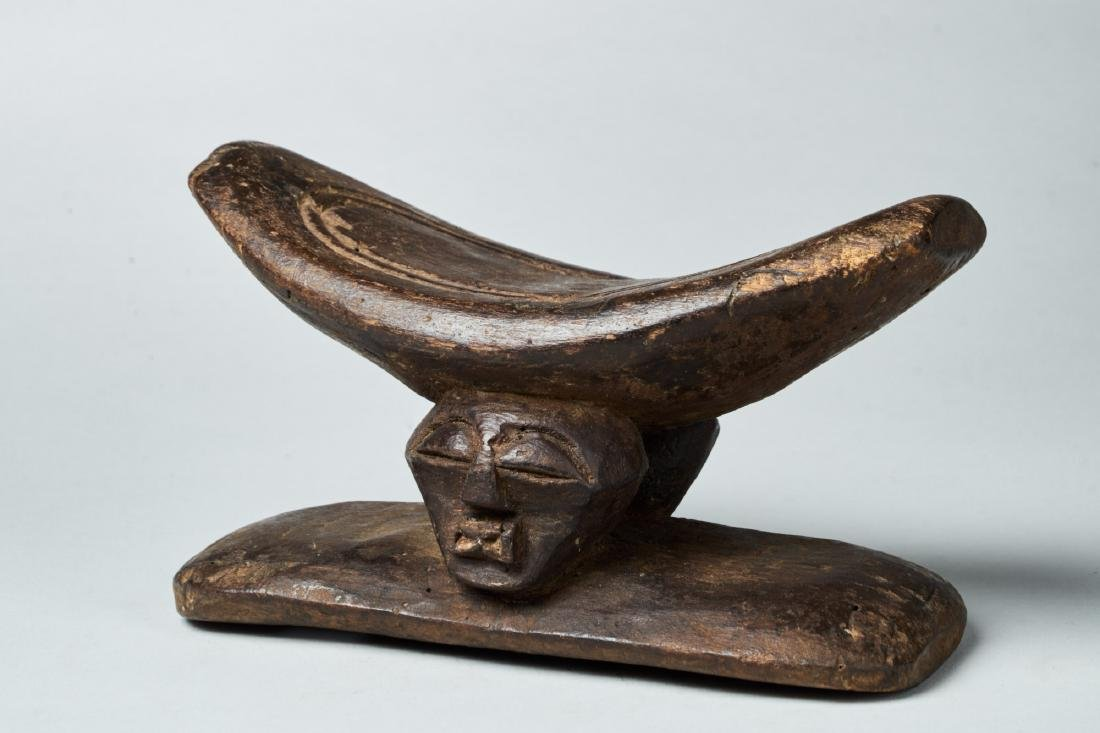 Wooden Songye Neckrest Tribal Art - 2