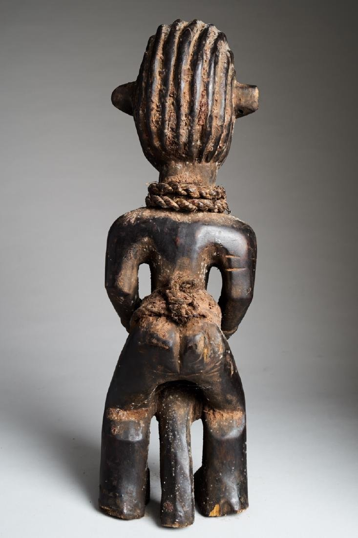 African Female Statue playing Drums Tribal Art - 4