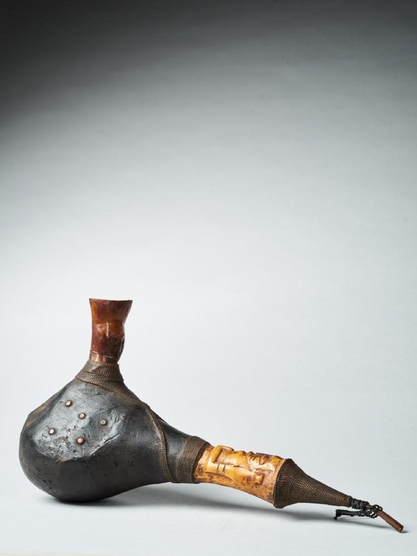Kongo Gourd Pipe Tribal Art