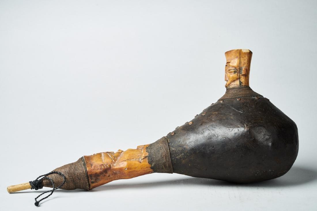 Kongo Gourd Pipe Tribal Art - 2