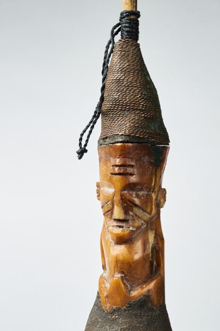 Kongo Gourd Pipe Tribal Art - 3