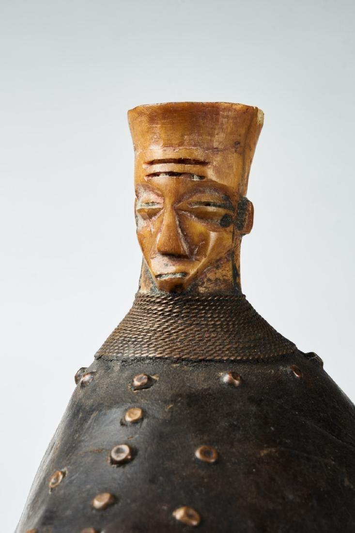 Kongo Gourd Pipe Tribal Art - 4