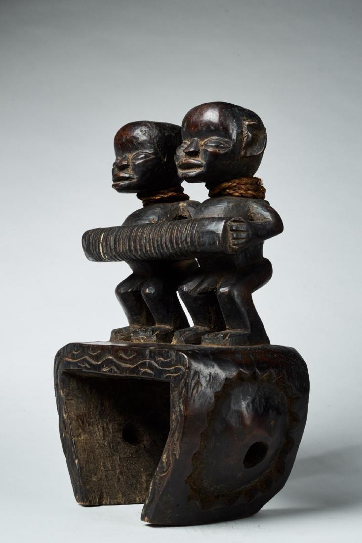 West African Loom Pulley Tribal Art - 3