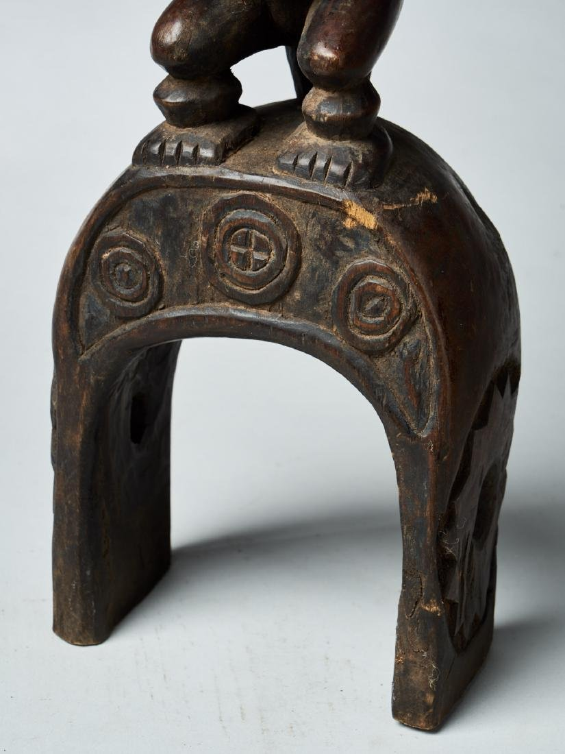 West African Loom Pulley Tribal Art - 5