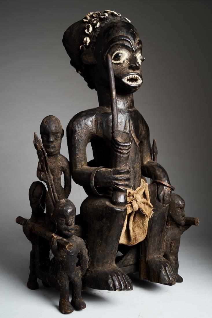 African Hard Wood Ancestor Statue Tribal Art - 2