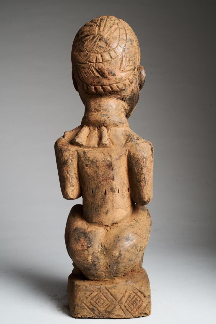 Kongo Female Statue in Phemba position Tribal Art - 4