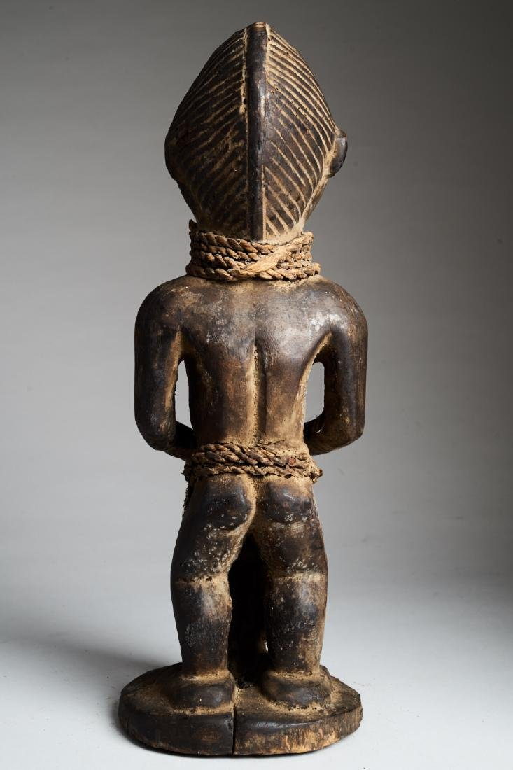 African Female Statue Pounding Food Tribal Art - 4
