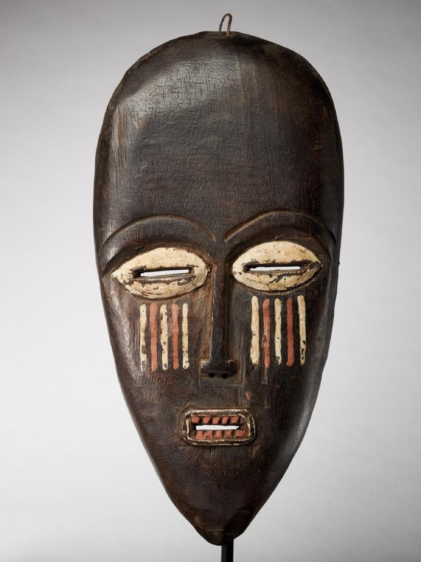 African  Face Mask with Red/White colouring Tribal Art
