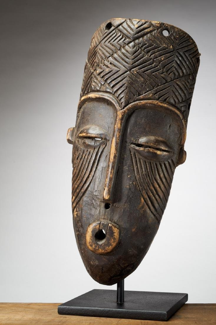 African Mask with Scarifications Tribal Art