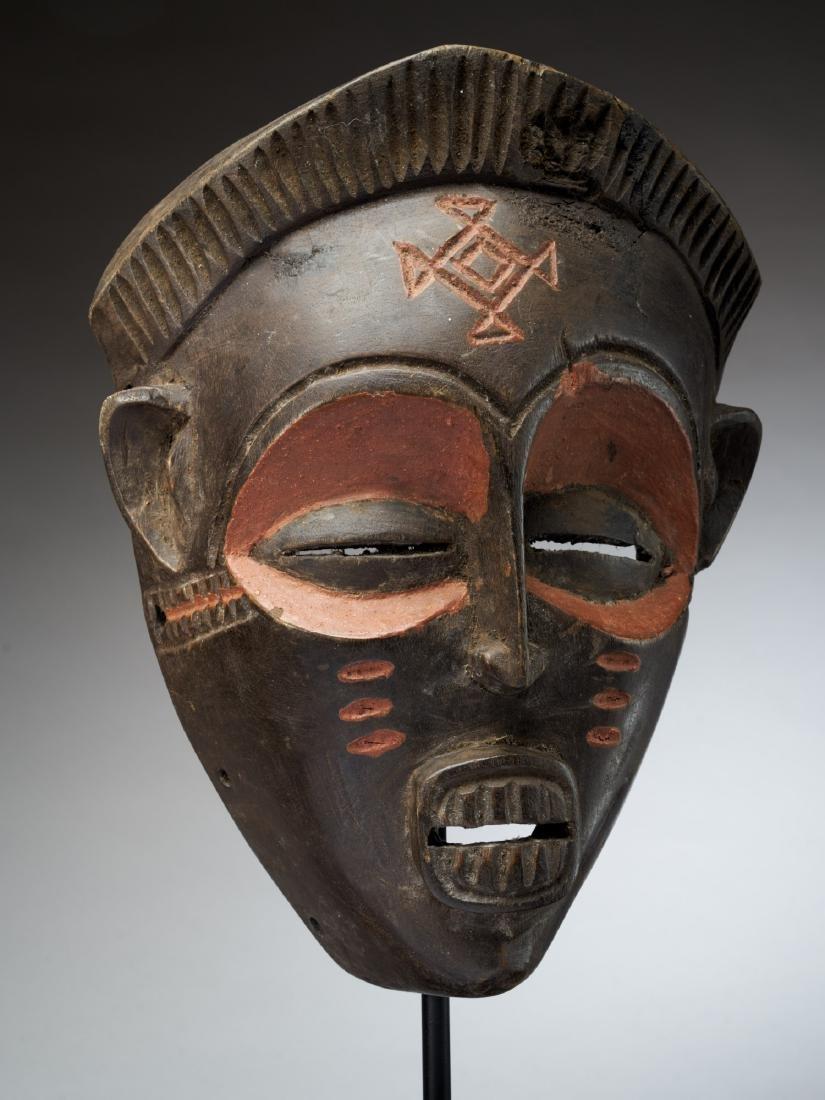 Chokwe Face Mask with Scarification Tribal Art