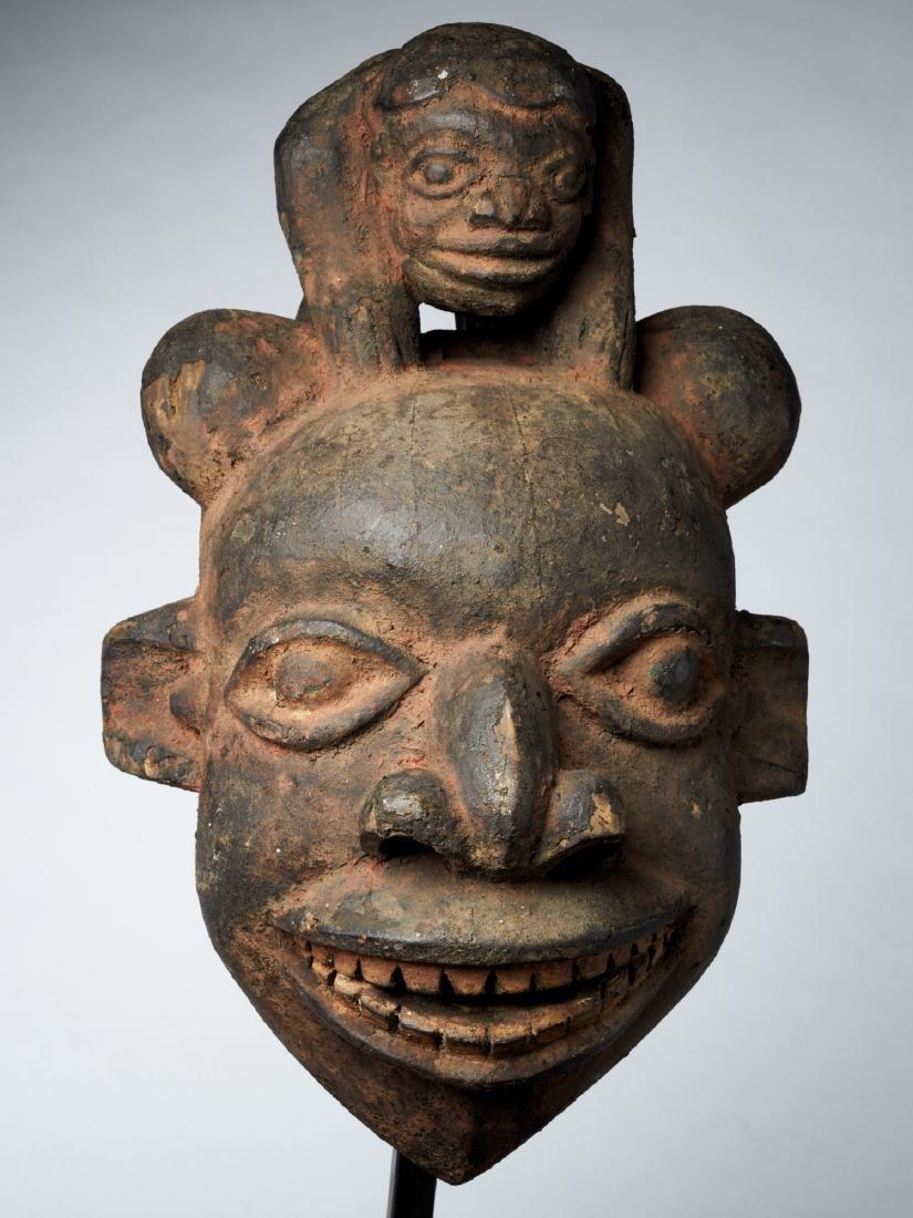 Bamoum/Kom Face Mask from Cameroon Grassland Tribal Art - 2