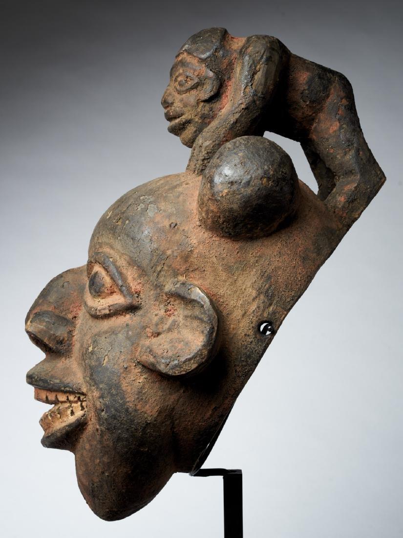 Bamoum/Kom Face Mask from Cameroon Grassland Tribal Art - 3