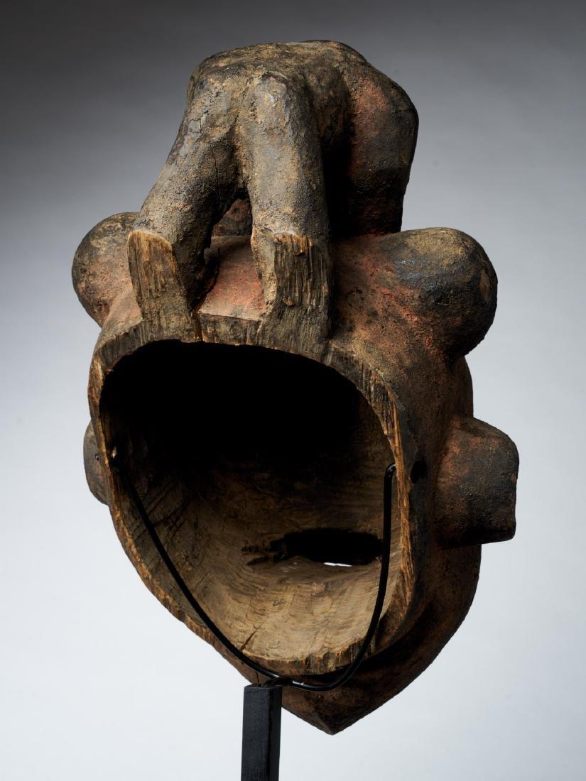 Bamoum/Kom Face Mask from Cameroon Grassland Tribal Art - 4