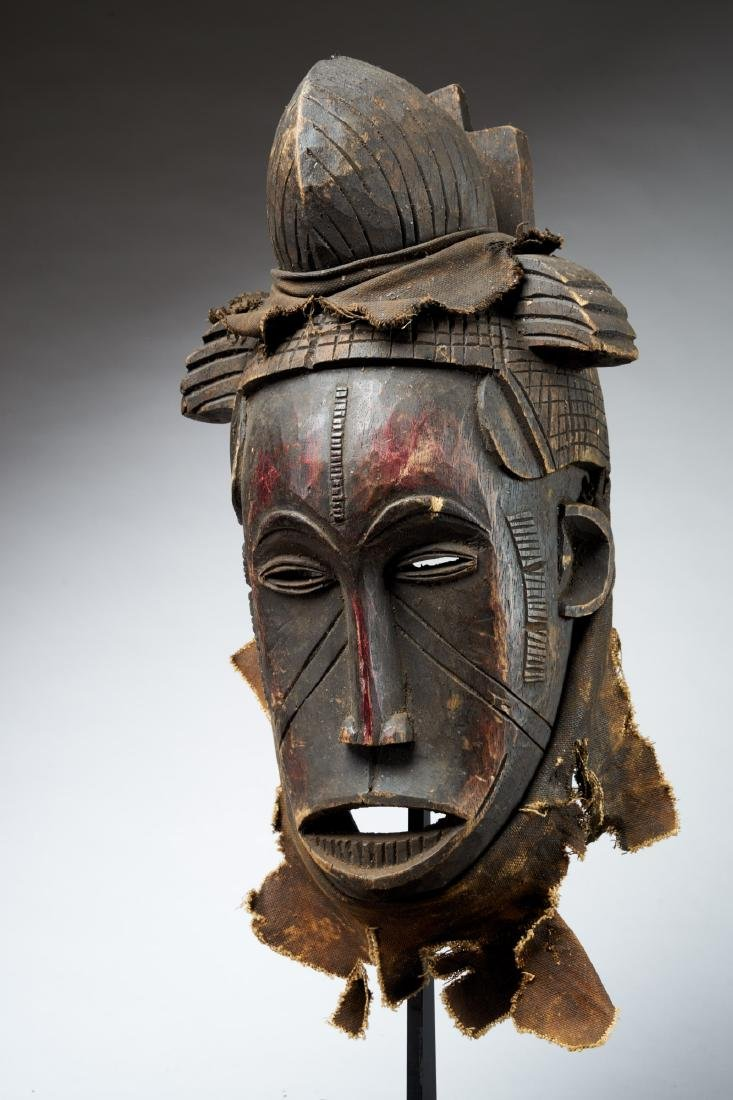 Nigerian Facemask with Nose Scarifications Tribal Art