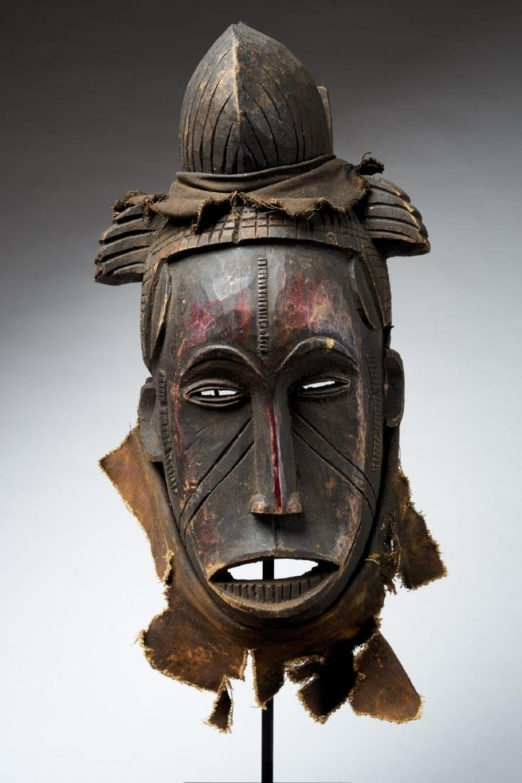 Nigerian Facemask with Nose Scarifications Tribal Art - 2