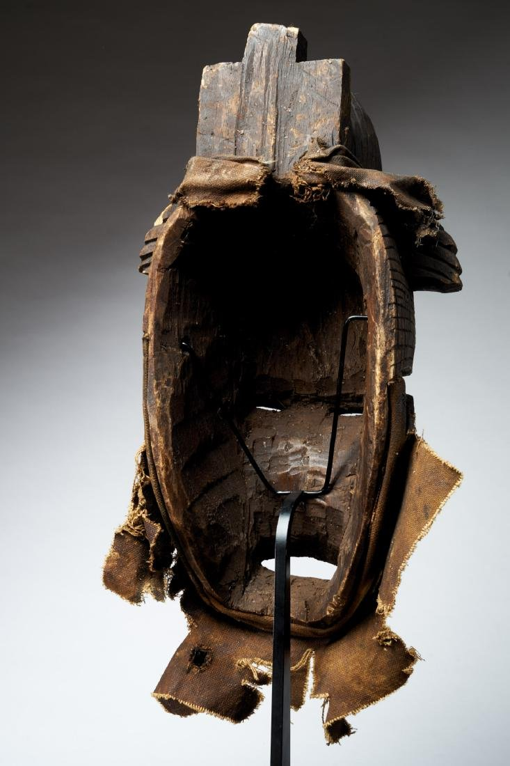 Nigerian Facemask with Nose Scarifications Tribal Art - 4