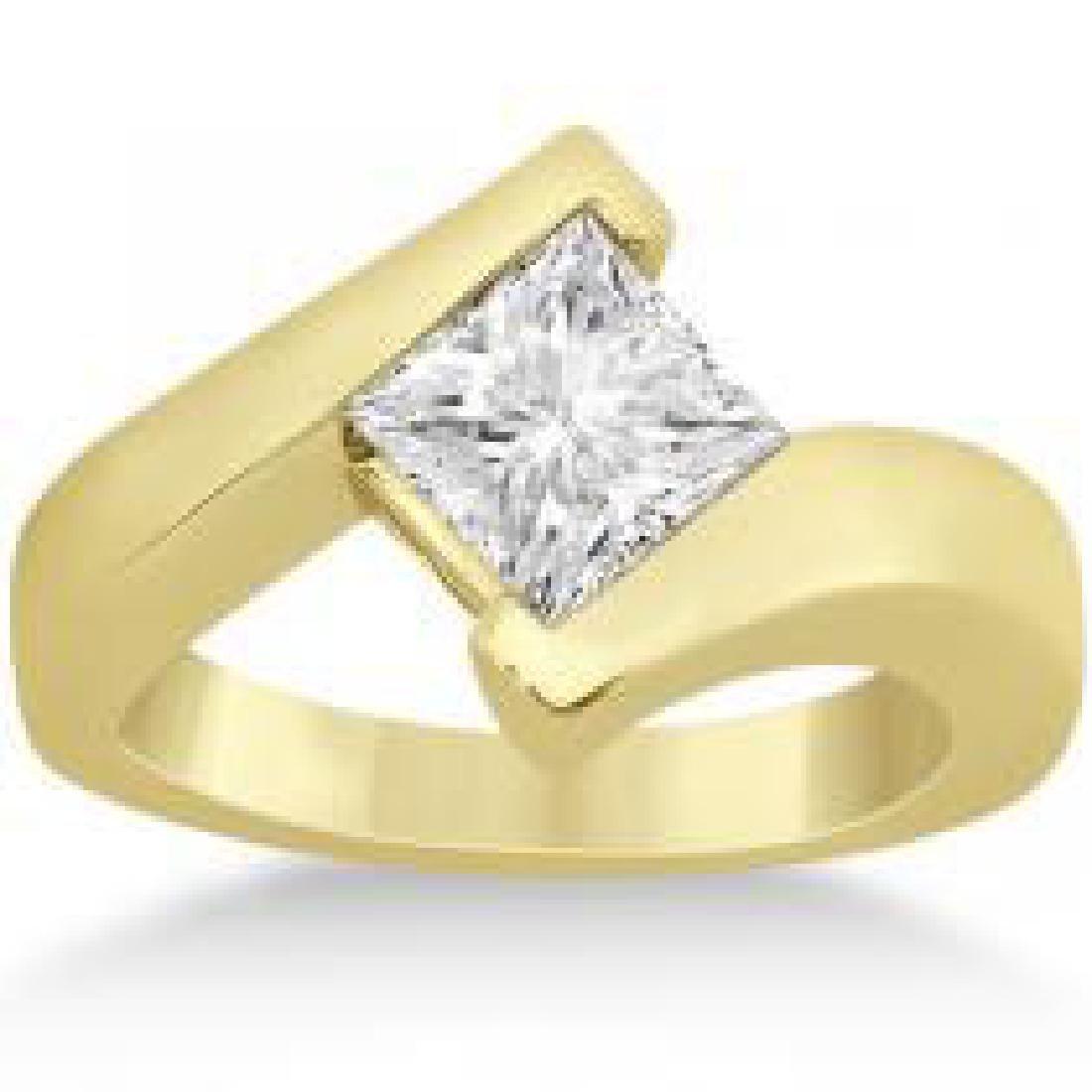 CERTIFIED PRINCESS 0.71 CTW SOLITIRE DIAMOND TENSION RI